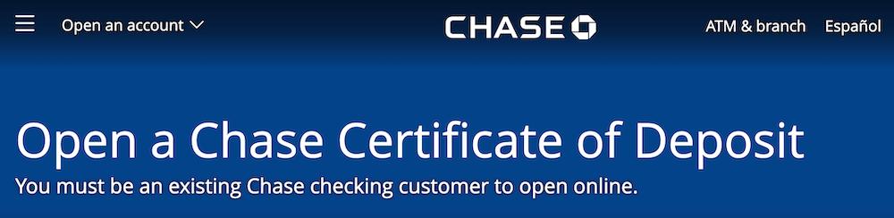 chase bank cd rates december 2018